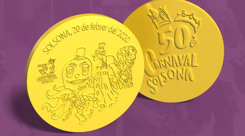 L'Associació de Festes del Carnaval encunya una moneda d'or per commemorar el 50è aniversari