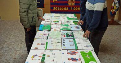 Wiam Bougakchan i Abril García guanyen el 4t concurs de dibuix de la Penya Barcelonista