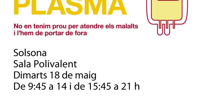 Solsona acollirà campanyes periòdiques de recollida de plasma